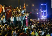 Lovitura de stat din Turcia a esuat. Presedintele turc Recep Erdogan a preluat puterea. Peste 2.800 de militari pucisti au fost retinuti