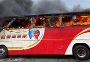 Taiwan: 26 de persoane si-au pierdut viata dupa ce autocarul in care se aflau a luat foc