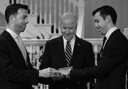 "Doi barbati, angajati ai Casei Albe, au fost cununati de vicepresedintele SUA. ""Mandru sa ii casatoresc pe Brian si Joe in casa mea"", a declarat Joe Biden"