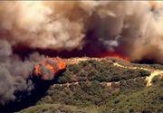 California, cuprinsa de flacari! Peste 80 de mii de oameni au fost evacuati de urgenta din calea focului devastator. Incendiul a ars deja mii de hectare de vegetatie, case si masini