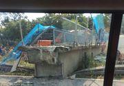 PANICA in Marea Britanie! Un pod s-a daramat si a creat haos pe sosea. Cel putin o persoana este ranita