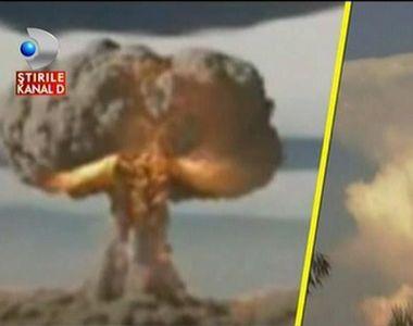 O imagine apocaliptică! Un nor de forma ciupercii, care se formează după o explozie...