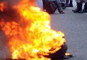 Devastator! O femeie de religie musulmana a fost INCENDIATA in plina strada