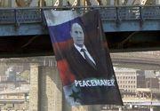 Un banner imens cu Vladimir Putin a fost amplasat pe Podul din Manhattan. Politia din New York a deschis o ancheta