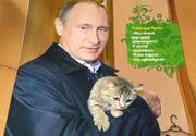 A aparut calendarul cu Vladimir Putin. Liderul de la Kremlin a fost fotografiat in ipostaze surprinzatoare. Ce mesaj apare pe ultima pagina