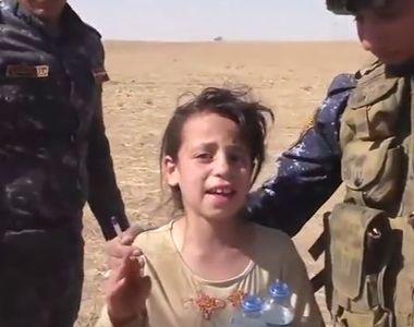 Momentul emotionant in care o fetita de 10 ani este salvata de soldatii irkaieni:...