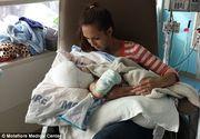 """Cum arata siamezii lipiti in zona capului dupa operatie. Mama si-a putut tine pentru prima oara unul dintre copii in brate: """"Am visat la acest moment timp de 13 luni"""""""