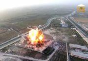 O drona a surprins un atac sinucigas. Pe filmare apar momentele in care o masina explodeaza in timp ce intra in niste cladiri guvernamentale