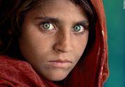 Celebra fata afgana, de pe coperta National Geographic, a fost arestata in Pakistan