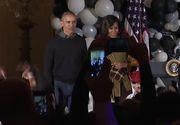 Ultima petrecere de Halloween a sotilor Obama la Casa Alba. Acestia au primit colindatori si au dansat pe melodia Thriller
