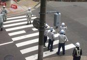 Un crater urias a inghitit un bulevard cu cinci benzi din orasul japonez Fukuoka | VIDEO