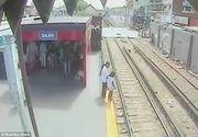 Incident socant intr-o gara din Argentina. Un baietel a fost la un pas de a fi calcat de tren. Imagini terifiante