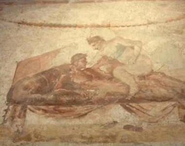 O serie de picturi descoperite pe zidurile unui fost bordel din Pompei dezvaluie...