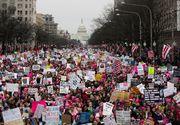 Un milion de oameni au manifestat la Washington pentru drepturi civile si impotriva lui Trump, in cel mai mare mars din istoria capitalei americane