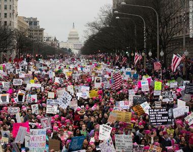 Un milion de oameni au manifestat la Washington pentru drepturi civile si impotriva lui...