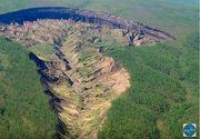 Craterul gigant din Sibera se mareste din ce in ce mai mult. Autoritatile sunt ingrijorate - Misterul imensului crater care scoate sunete ciudate