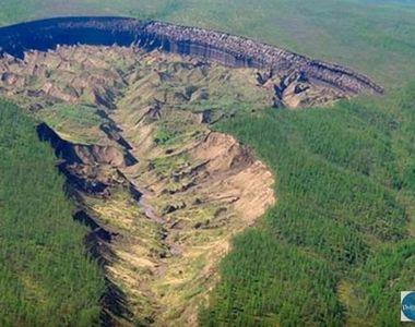 Craterul gigant din Sibera se mareste din ce in ce mai mult. Autoritatile sunt...