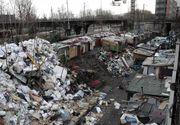 Aproximativ 80 de romi, evacuati dintr-o tabara din Franta. Au lasat in urma un morman de gunoi de aproape 10 metri inaltime