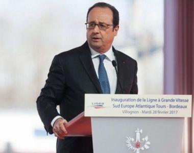 Focuri de arma in Franta, in timpul discursului presedintelui Francois Hollande. Doua...