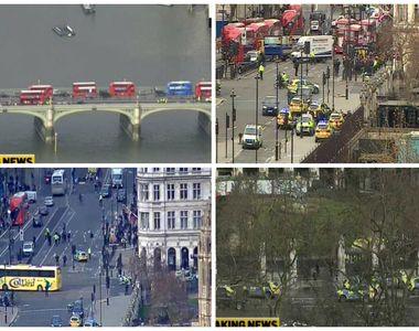 Atac armat in fata Parlamentului din Londra. Patru persoane au murit si cel putin 20 au...
