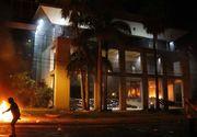Proteste violente in Paraguay. Manifestantii au dat foc Parlamentului