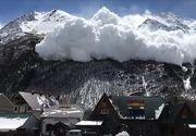 Avalansa intr-o statiune din Muntii Caucaz. Tonele de zapada au trecut la cateva sute de metri de o statiune plina cu turisti