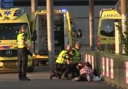 Incident terorist la Amsterdam? Un individ intrat cu masina in pietoni - Ranitii au fost transportati la spital