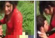 O tanara filmata in timp ce intretinea relatii intime langa un cort la un festival, devastata dupa ce imaginile au devenit virale pe net
