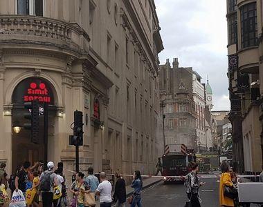 Incendiu in Londra. O cladire din centrul orasului a luat foc