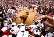 Cinci persoane, ranite in cursele cu tauri de la Pamplona