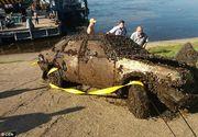 Descoperire cutremuratoare intr-o masina scufundata pe fundul raului Volga