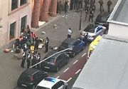 "Atac terorist la Bruxelles! Un barbat care ar fi strigat ""Allah Akbar"" a atacat cu un cutit doi militari. El  a fost impuscat de politisti"
