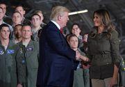 Donald Trump si-a impins sotia de pe scena dupa ce aceasta l-a prezentat publicului