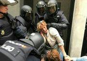 Referendum in Catalonia: Numarul persoanelor ranite in urma confruntarilor cu Politia a ajuns la 460