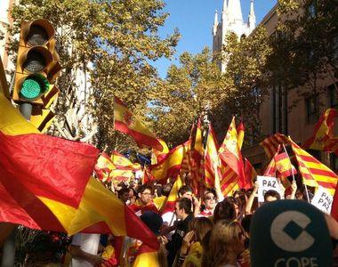 Peste 950.000 de persoane la manifestatia de la Barcelona pentru unitatea Spaniei....