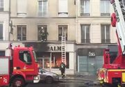 Cel putin sase raniti usor la Paris, in urma unui incendiu intr-un magazin de haine la parterul unui bloc