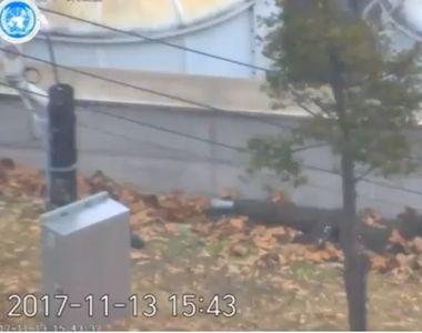 Imagini dramatice care surprind dezertarea militarului nord-coreean in Sud, facute...