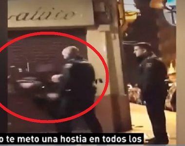 Un politist a lovit cu brutalitate o femeie, incat aceasta s-a prabusit la pamant -...
