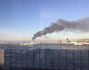 Incendiu devastator langa aeroportul din Dublin. Opt echipaje de salvare au sosit la...