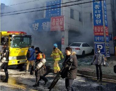Incendiu la un spital din Coreea de Sud: Cel putin 41 de persoane au murit si alte...
