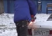 Nervos ca si-a gasit locul de parcare ocupat, a facut un gest extrem - VIDEO
