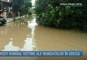 Clipe de panica! Turistii romani, victime ale inundatiilor din Grecia. Imagini apocaliptice!