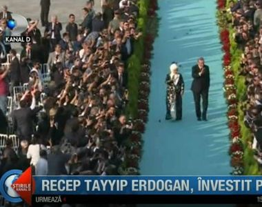 Recep Tayyip Erdogan, investit presedinte! Palatul prezidential din Ankara a imbracat...