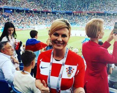 Presedinta Croatiei a facut senzatie la finala Campionatului Mondial de fotbal! Cum...