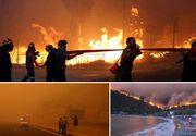 Incendii devastatoare in Grecia! Zeci de oameni au ars de vii si peste 150 au fost raniti. Turisti straini, printre victime