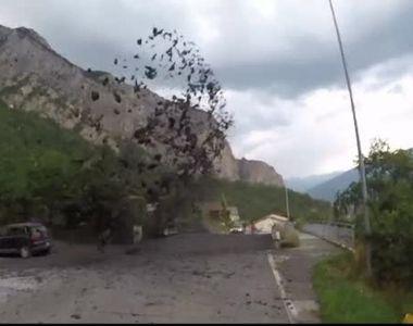 Un puhoi de noroi si pietre a erupt pe strazile unei localitati din Elvetia! Fenomenul...
