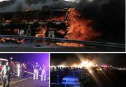 Catastrofa rutiera in Iran! Un autobuz s-a ciocnit cu o cisterna si a luat foc. 19 oameni au murit si alte zeci sunt in stare grava