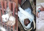 Bebelus nascut de doar o zi, gasit intr-o punga atarnata de un gard. Un gunoier a fost la un pas sa-l arunce in masina de gunoi