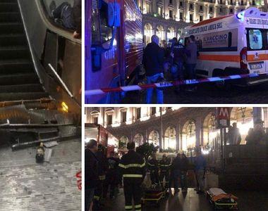 Incident dramatic la Roma! Scara rulantă de la metrou a cedat. Sunt cel puţin 20 de...