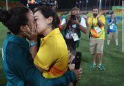 A avut loc si prima cerere in casatorie intre persoane de acelasi sex la Jocurile Olimpice 2016. O sportiva a fost ceruta de sotie de iubita ei